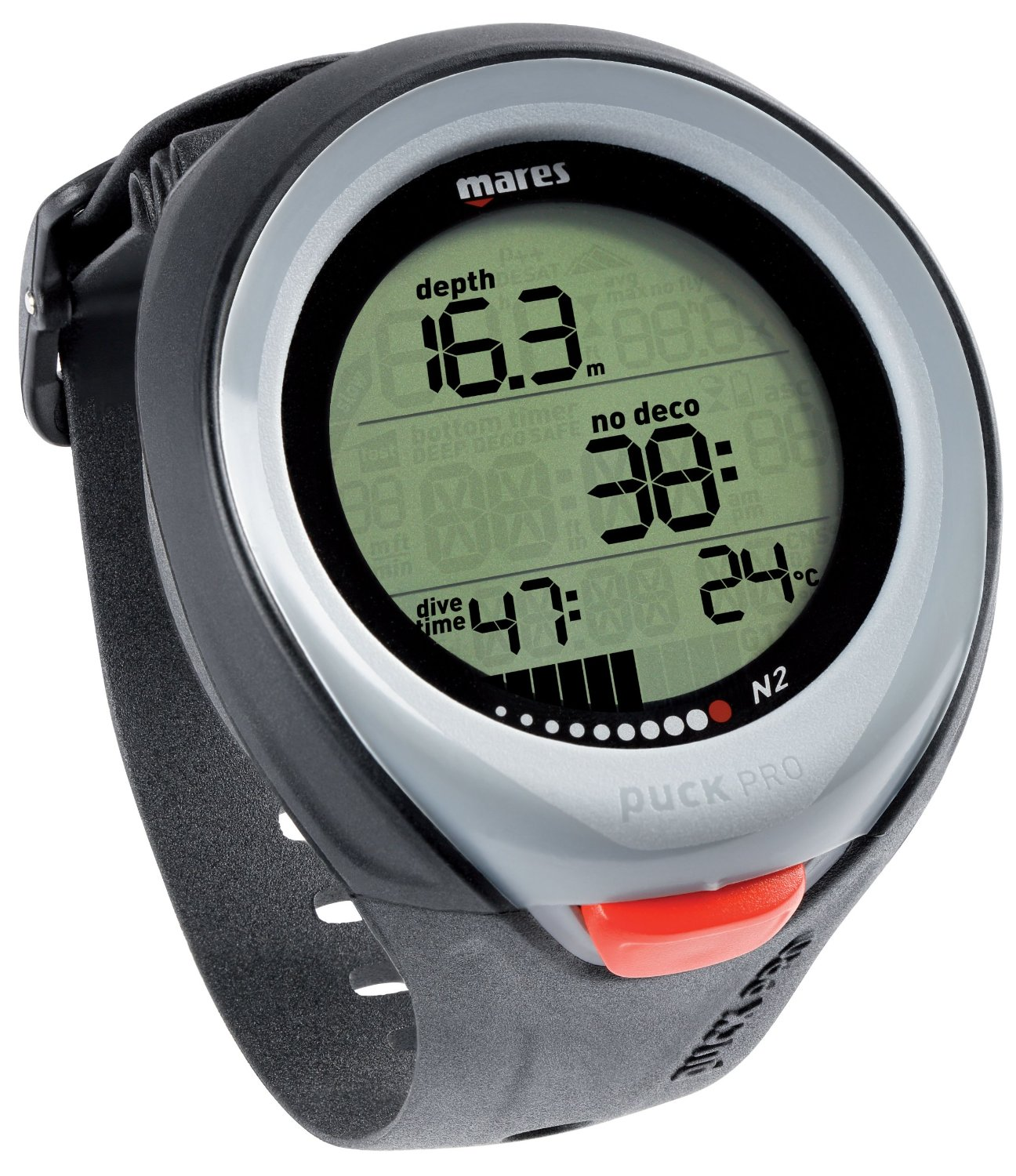Mares Puck Pro Wrist Dive Computer for Scuba Diving